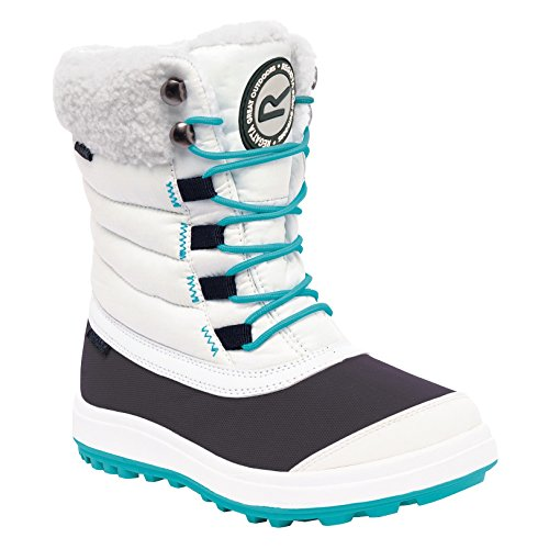 Regatta Boys Elvina Waterproof Warm Fleece Lined Winter Boots White Weiß/Keramik