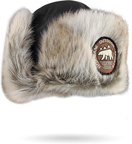 normani Damen und Herren Wintermütze Tschapka Uschanka Polarmütze mit Ohrenklappen...