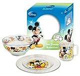 Mickey Mouse - Set desayuno cristal de 3 piezas (Arditex WD7399)