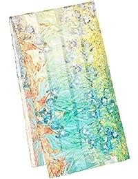VON LILIENFELD Foulard en soie art floral femme écharpe incent van Gogh    Iris Dimensions   cb10de7d72e
