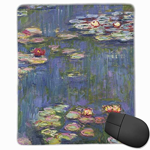 Lily Gewebe (Water Lilies Rectangle Non-Slip Rubber Mouse Pad with Stitched Edges)