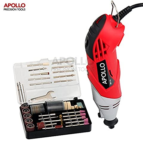 Apollo Heavy Duty 170W Multi Purpose Rotary Combitool Multi-Tool with Variable Speed Switch & 120 Piece Mixed Accessory Kit in Storage Case. Compatible with Dremel