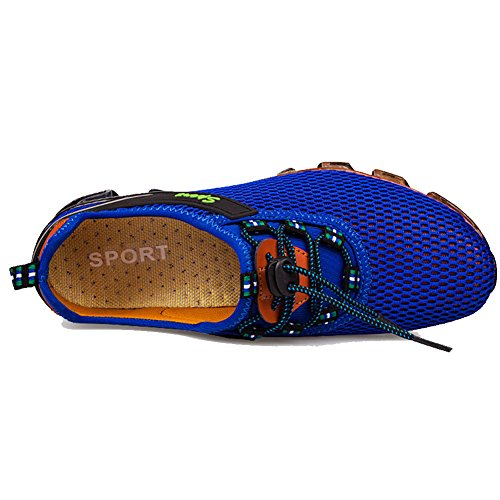 FY Herren Sommer Turnschuh Atmungsaktiv Leichte Wasser Schuhe Laufschuhe Außerhalb Sportschuhe Marineblau