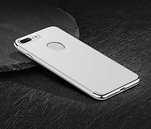 Hosaire Handyhülle für Apple iphone 5/6/7 Phone Case Transparente Apple Telefon Fall Schutzhülle Phone Back Cover Shell Schalen,Silber Farbe iphone 5/5S