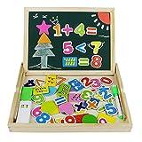 Juguete de Madera Pizarra Blanca Tablero Magneticos Educativos Aprendizaje de Matematicas Número con Caballete Puzzle para Ninos Infantil de 3 4 5 Años