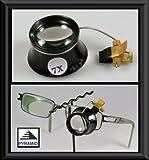 BRILLENLUPE 7fache Vergrößerung Lupe Brille Juwelierlupe Juwelierslupe Uhrmacherlupe