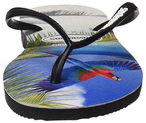 Havaianas Slim Buzios, Sandales Femme Multicolore (Black 0090)