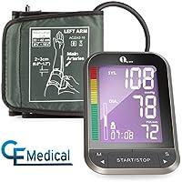 1byone Tensiómetro de brazo, con LCD retroiluminado,medidor de presión arterial de brazo,