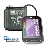 1byone Upper Arm Blood Pressure Monitor with Wide-Range Cuff, Large Backlit LCD, Memories for 2 Users, Irregular Heartbeat Detector - Black