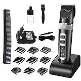BESTOPE Haarschneider Haarschneidemaschine Profi Elektrische Trimmer Friseur Wiederaufladbarer Männer Bartschneider mit LCD Power Anzeige Profi Haartrimmer Set
