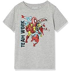 RED WAGON Camiseta Marvel Avengers Niños, Gris (Grey Marl 001), 5 Años