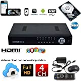 DVR NVR HVR SVR SDVR 4 CH CANALI FULL HD 960H CLOUD 3G WIFI 500 GB - Best Reviews Guide