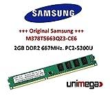 Samsung originale 2GB DDR2–667DIMM (667MHz, PC2–5300, 240Pin) m378t5663qz3CE6Double Side per sistemi DDR2PC Computer