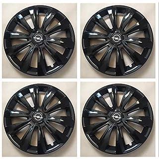 Unit.ec 4X Radkappen 15 Zoll in schwarz für Opel Inkl Embleme
