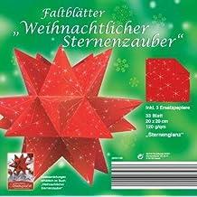 Faltblätter Weihnachtlicher Sternenzauber - Motiv Sternenglanz, 20 x 20 cm á 33 Blatt