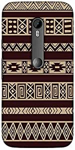 Snoogg Brown Aztec Patternsolid Snap On - Back Cover All Around Protection Fo...