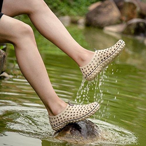 Eagsouni® Aquaschuhe Strandschuhe Badeschuhe Surfschuhe Wasserschuhe Wattschuhe Aqua Schuhe für Herren Khaki