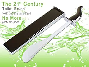 The 21st Century Toilet Brush without the Bristles -Toilet Maid- No More Dirty Brushes. Chrome and Chrome by Toilet Maid