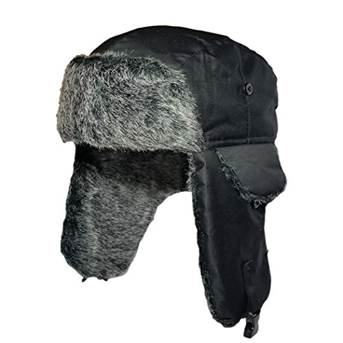 Mens Winter Warm Shower Proof Russian Fake Fur Trapper Ski Hat Select