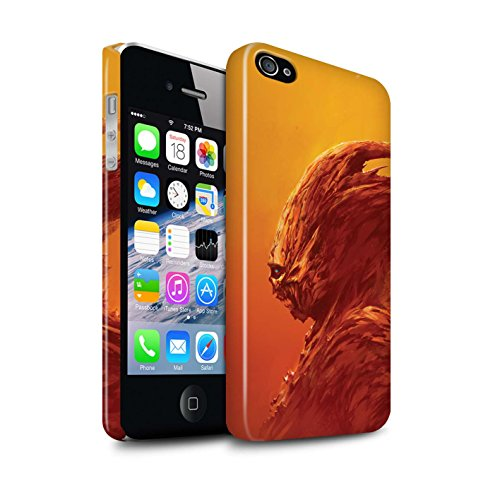 Offiziell Chris Cold Hülle / Glanz Snap-On Case für Apple iPhone 4/4S / Raubtier/Jäger Muster / Wilden Kreaturen Kollektion Raubtier/Jäger