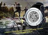 Generic Sunroad FR722A Montre baromètre de pêche étanche 5 ATM, altimètre, thermomètre, prévisions météo, Argenté...