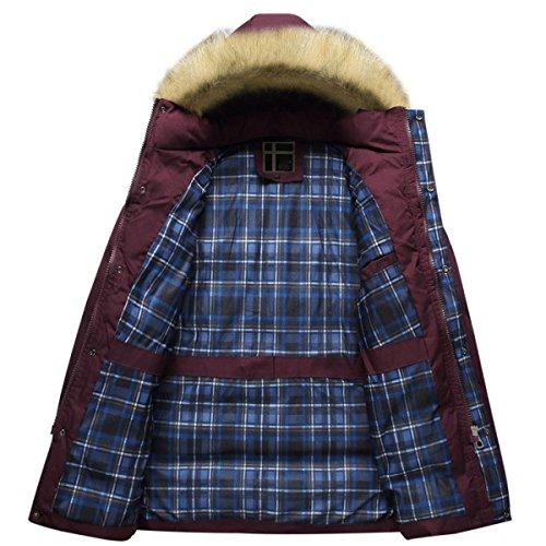 Inverno In Cotone Spessa Abbigliamento Casual Caldo Cappuccio Con Cappuccio Rimovibile Red