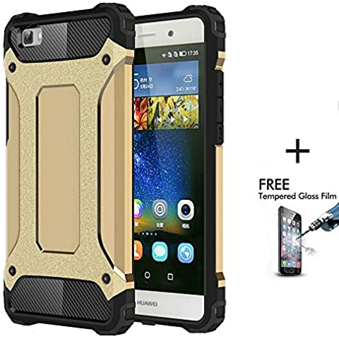 OnPrim Armor Hybrid Hard PC And Flexible Rubber Shockproof Bumper Drop Resistance Defend Case For Huawei Ascend P8 Lite 5 Inth