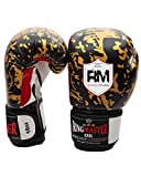 Ringmaster UK adulte gants de boxe en cuir synthétique motif/or/noir, Homme Femme, Gold and Black Patterned