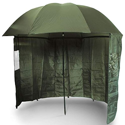 NGT Green Brolly with Zip on Side Sheet 45 Parapluie, Vert, XL