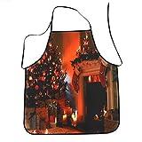 MuSheng(TM) Christmas Apron, Décoration de Noël Tablier imperméable Tabliers de Cuisine Tablier de dîner … (Multicolored)