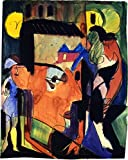 Self-Portrait - By Ernst Ludwig Kirchner - Leinwanddrucke 24x30 Inch Ungerahmt
