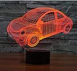 2019 Car-styling Conception Berline Voiture 3d Led Usb Lampe Tactile Télécommande Contrôleur Dimmer Enfants Jouets Nuit Lumière Garçon Décoration De Bureau Cadeau