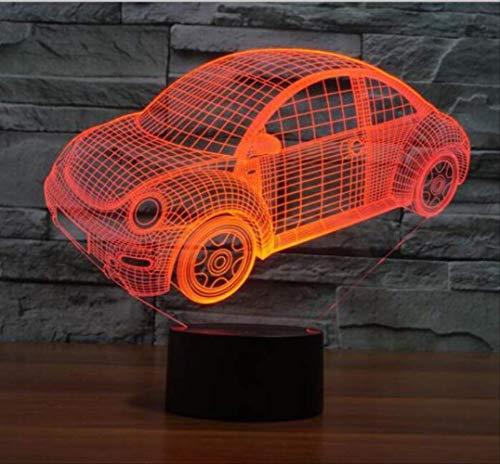 2019 auto-styling Design Limousine Auto 3d Led Usb Lampe Touch Fernbedienung Dimmer Kinder Spielzeug Nigh Light Boy Schreibtisch Dekoration Geschenk