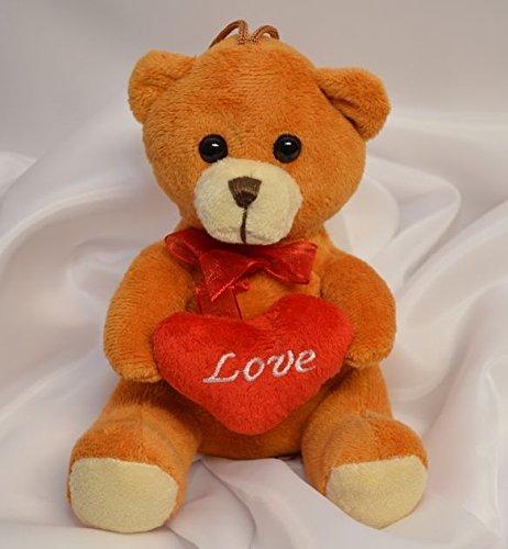 Plüschtier Teddy mit Herz Love, ca. 17 cm