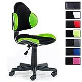 Kinderdrehstuhl Schreibtischstuhl Drehstuhl ALONDRA, schwarz/grün