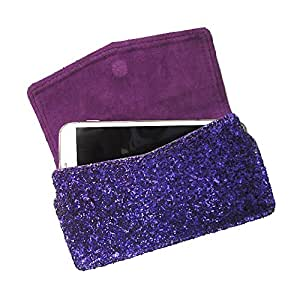 i-KitPit : PU Leather Pouch Case With Magnetic Closure For iBall Andi 4A Projector (PURPLE)