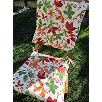 Pay Little New!! Spring - Summer 2019 collection !!!! Seat cover red flowers size 40x40 cm. With 2 laces. Made in Italy. !
