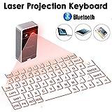 iegeek atongm-Sicherheitssystem für Ultra-Portables Laser-Projektions-Tastatur Bluetooth Virtuelle Laser Tastatur Full-Size QWERTY Touchpad Schwarz+