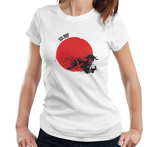Red Sun Monkey D Luffy One Piece Women's T-Shirt white