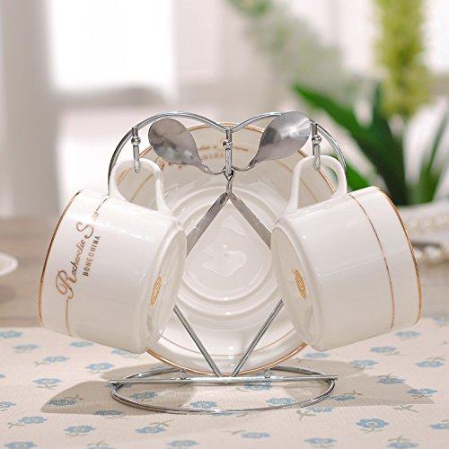 SSBY Tazza di caffè in ceramica europea, coppia di porcellana bone China tazza, bicchiere d'acqua set