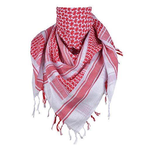 Shemagh Scarf Keffiyeh Arab Wrap Army Military Tactical Desert Neck 100% Cotton Mens Veil Head Cuadros...