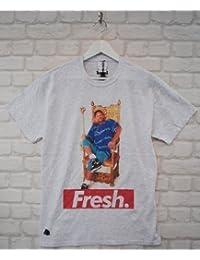Actual Fact Fresco Prince Trono Gris Moteado Will Smith 90s Camiseta Con Cuello Redondo Camiseta