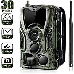 "Cámara de caza 3G 2G Cámara de vigilancia de vida silvestre 20MP 1080P, cámara de juego de detección nocturna con LED IR de 940 nm, visión nocturna, pantalla LCD de 2.4 "". IP65 a prueba de agua....801G"