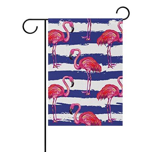 DragonSwordlinsu Coosun Exotique Rose Flamingo Oiseaux Polyester Drapeau Jardin extérieur Drapeau Home Party Décor de Jardin, Double Face, 30,5 x 45,7 cm, Polyester, Multicolore, 12x18(in)