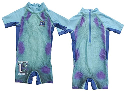Image of Boys Monsters Inc SULLY All in One Wetsuit Style Swim Suit sizes 2 3 4 5 Years