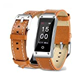 Fitness Tracker GPS Integriert, elecfan IP67 Wasserdicht Farbdisplay Intelligente Uhr mit Pulsmesser, Herzfrequenzmesser, Schrittzähler, Schlaf-Monitor kompatibel mit iPhone Android Handy (Braun)