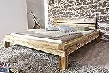 SAM® Balkenbett Elias Massiv Holzbett ohne Schubkästen 200 x 200 cm geölt natürliches Design