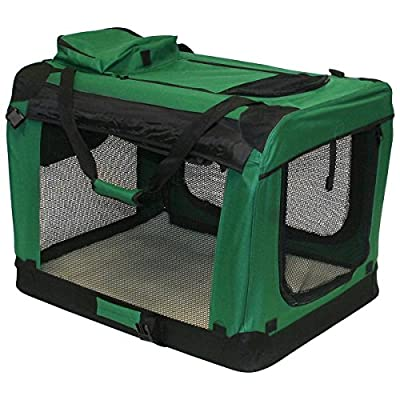 Charles Bentley Pets Foldable Carrier Crate Lightweight Removable Cover Medium H52xW70xD52 Cm Transportation Carry Straps Portable Dog Cat Animal