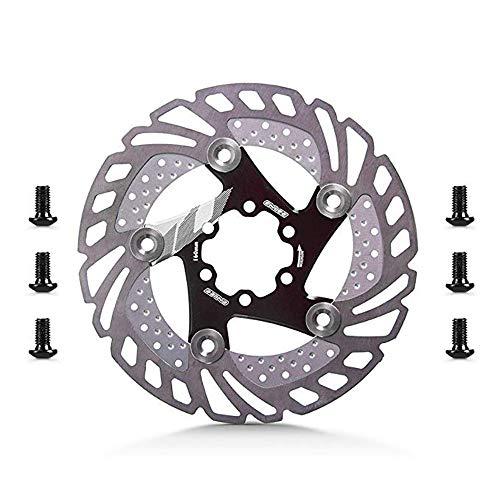 Fahrradbremsscheibe Schwimmende Bremsscheibe 6 Schrauben Aluminiumlegierung Fahrrad Bremsscheibe Die Meisten Fahrrad Rennrad Mountainbike BMX MTB 160mm Geeignet for Radsportbegeisterte Bremsscheibe