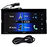 "JVC KW-V330BT 6. 8"" Car DVD Receiver+Bluetooth/Siri Eyes/iPhone/Android+AUX Cable"